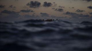 عکس آرشیوی از قایق مهاجران در نزدیکی لیبی