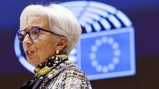 Председатель ЕЦБ Кристин Лагард, февраль 2021 г.