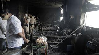 حريق مستشفى في الهند
