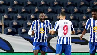 Moussa Marega scores to keep Porto's title hopes alive
