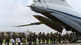 نیروهای روس شرکت کننده در رزمایش کریمه