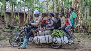 'Cars can't reach us': Giant motorbikes are the workhorses in rural Cameroon