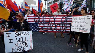 مظاهرات تطالب الولايات المتحدة وتركيا بالاعتراف بإبادة الأرمن