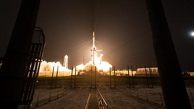 SpaceX Falcon 9 rocket launches from the Kennedy Space Center in Florida
