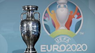 The Euro championships trophy at a presentation of Munich as a host city. Munich, Germany, October. 27, 2016