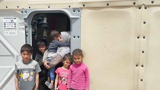 Campamento de refugiados de Pournara en Chipre