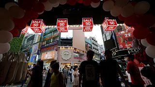 یک مرکز خرید در شهر سئول