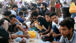 افطار رمضان جماعي في اليمن