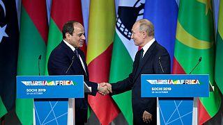 Rusya ve Mısır Devlet Başkanları