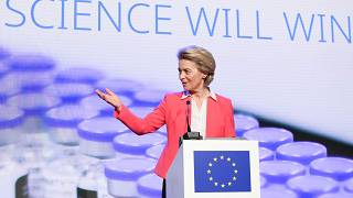 Von der Leyen said vaccine production has become stable enough to update the initial target.