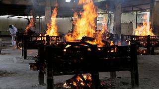 India hospital fire victims cremated amid virus surge