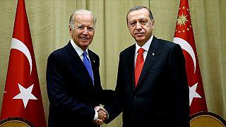 ABD Başkanı Joe Biden ve Türkiye Cumhurbaşkanı Recep Tayyip Erdoğan.