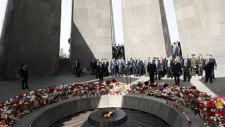 H τελετή στο Μνημείο για τα θύματα της Γενοκτονίας