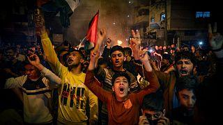 تظاهرات فلسطینیان در بیتالمقدس همزمان با تشدید خشونت در نوار غزه