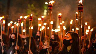 """Ermenistan'da 1915 olaylarının yıl dönümünde """"Ermeni Soykırımı anma yürüyüşü"""""""