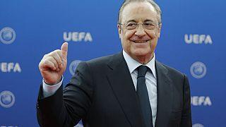Real Madrid ve Avrupa Süper Ligi Başkanı Florentino Perez.