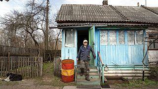 A casa de Yevgeny Markevich na zona de exclusão de Chernobyl