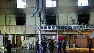 آتشسوزی در بیمارستان بیماران کرونایی در عراق