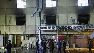 حريق في مستشفى مرضى كوفيد ببغداد/ العراق.