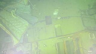 Aufnahme eines Unterwasseroboters vom Wrack