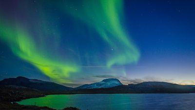 The northern lights, or aurora borealis