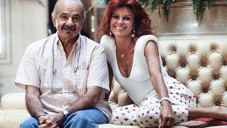 Milva und der argentinische Komponist und Musiker Astor Piazzolla in Monaco (15.8.1986)