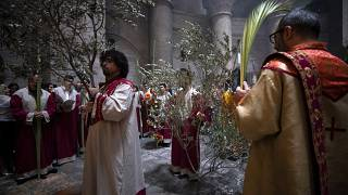 Вербное воскресенье в Храме Гроба Господня в Иерусалиме