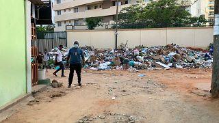 Lixo acumulado em Luanda