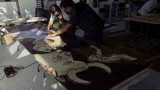 فيديو: في ذكرى القصف النازي لغرنيكا.. نسخة من الشوكولاتة للوحة بيكاسو الشهيرة