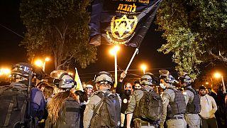 Kudüs'te Yahudi göstericilerle Filistinliler arasında gerilim