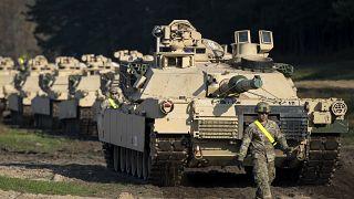 دبابات أميركية في ليتوانيا