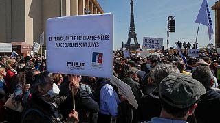تظاهرات معترضان به حکم دادگاه فرانسه علیه قاتل یک زن یهودی، پاریس