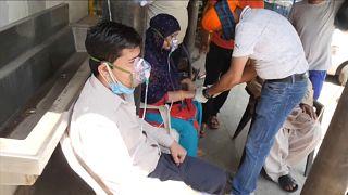 Crisis de oxígeno para pacientes de COVID-19 en la India