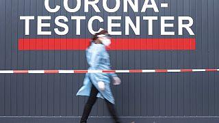Coronavirus: Testzentrum in Deutschland