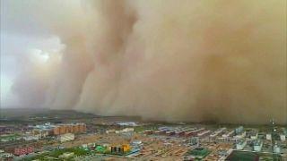 عاصفة رملية - منغوليا