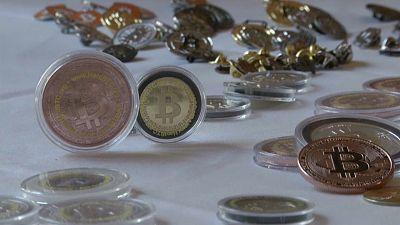 Physical Bitcoins samples