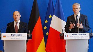 برنو لومر و اولاف شولتز وزرای اقتصاد و دارایی فرانسه و آلمان