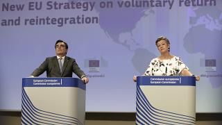 Schinas and Johansson presented the new strategy on Tuesday afternoon.