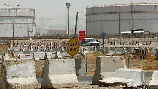 عکس تزئینی از پالایشگاه نفت در عربستان سعودی