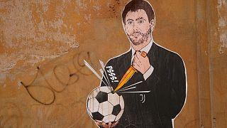 نقاشی دیواری از رئیس باشگاه یوونتوس پس از اتفاقات اخیر سوپرلیگ