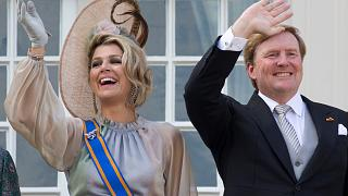 Dutch King Willem-Alexander and Queen Maxima in The Hague, Netherlands, on Sept. 18, 2018.