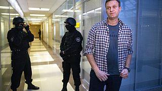 Alekszej Navalnij nyilatkozik a médiának