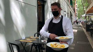 Reapertura de la terraza de un restaurante italiano
