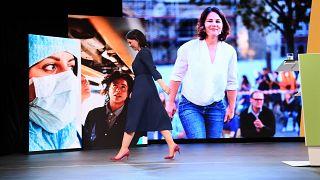 """""""Zukunft ist nichts, was einfach so passiert"""": Baerbock bei ihrer Rede zur Bekanntgabe der Kandidatur"""