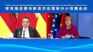 Die deutsche Kanzlerin Angela Merkel (rechts) und Chinas Ministerpräsident Li Keqiang