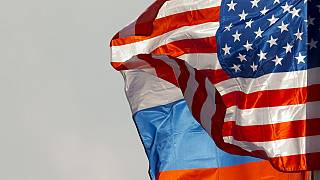 Rusya-ABD bayrakları