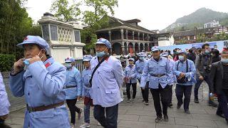 Una visita turística guiada por los descendientes del Ejército Rojo chino