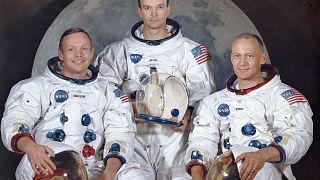 "Neil Armstrong , Michael Collins und Edwin E. ""Buzz"" Aldrin"