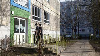 Schüler in Hellersdorf, Berlin, Deutschland, 23.02.2021