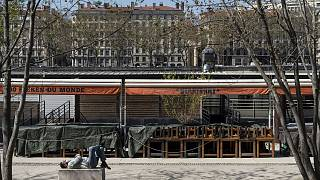 Les quais du Rhône à Lyon, le 1 avril 2021